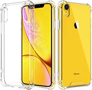 KampoStore Compatible with iPhone XR Clear Case, Anti-Scratch Shock Absorption Cover Case for iPhone XR Clear