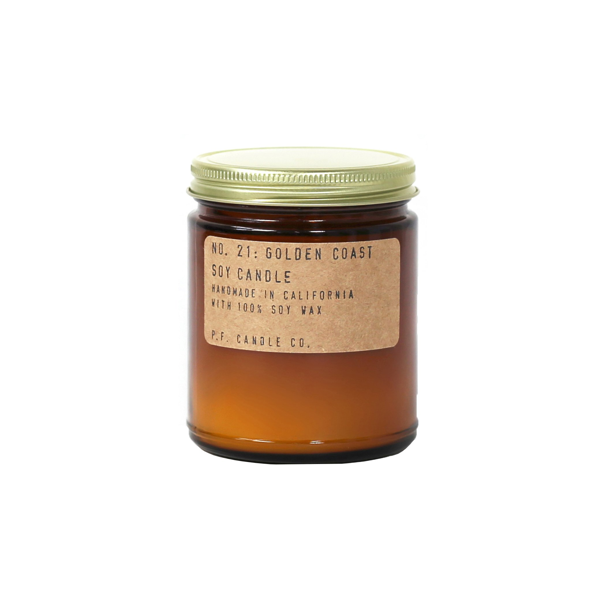 P.F. Candle Co.. - No. 21: Golden Coast Soy Candle (3.5 oz)