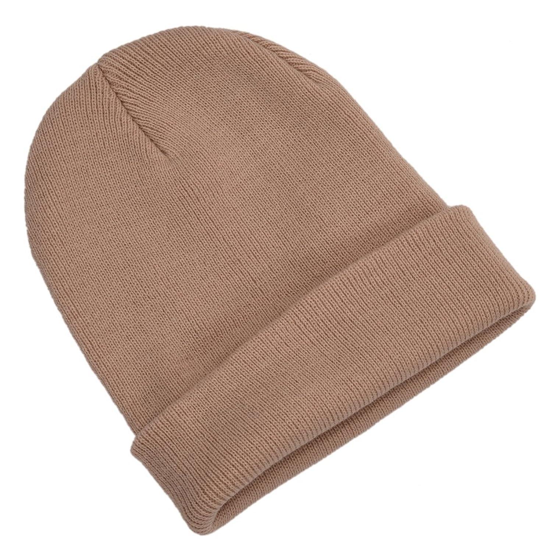 Wolleschutzkappe - TOOGOO (R) Winter Beanie Knit Warme Ski Kappe Wolle Strickmuetze (beige)