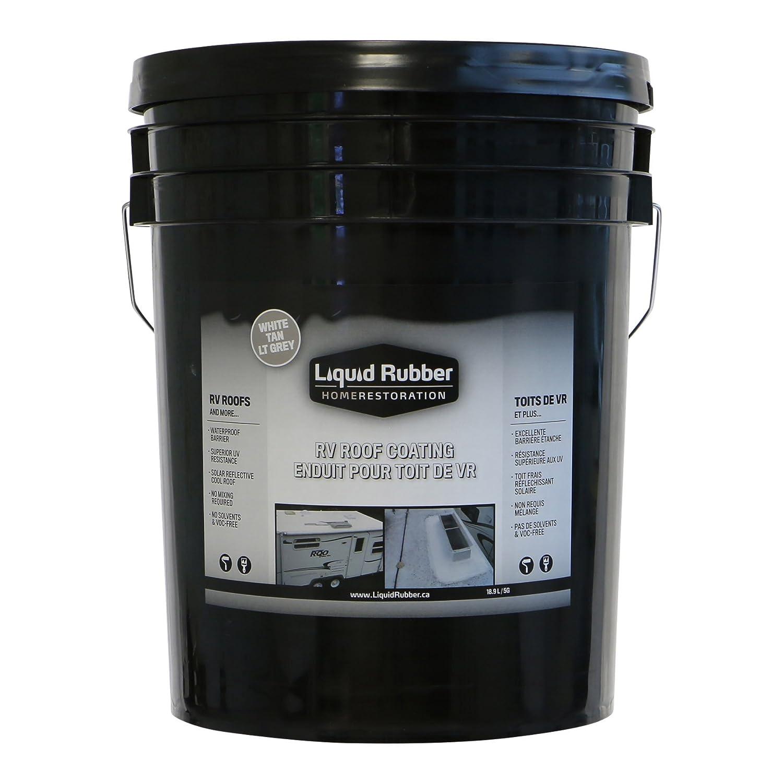 Liquid Rubber RV Roof Coating/Sealant - Solar Reflective | Waterproof | Easy to Apply | Brilliant White | 5 Gallon