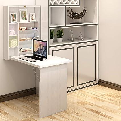 Tangkula mesa de pared, escritorio plegable convertible ...