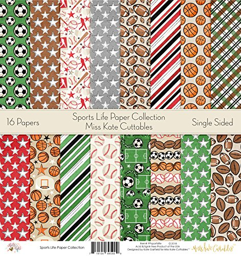(Pattern Paper Pack - Sports Life - Scrapbook Card Stock Single-Sided 12