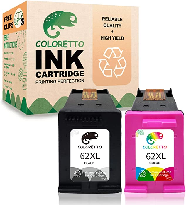Top 9 Remanufactured Ink Cartridge Replacement For Hp 62Xl