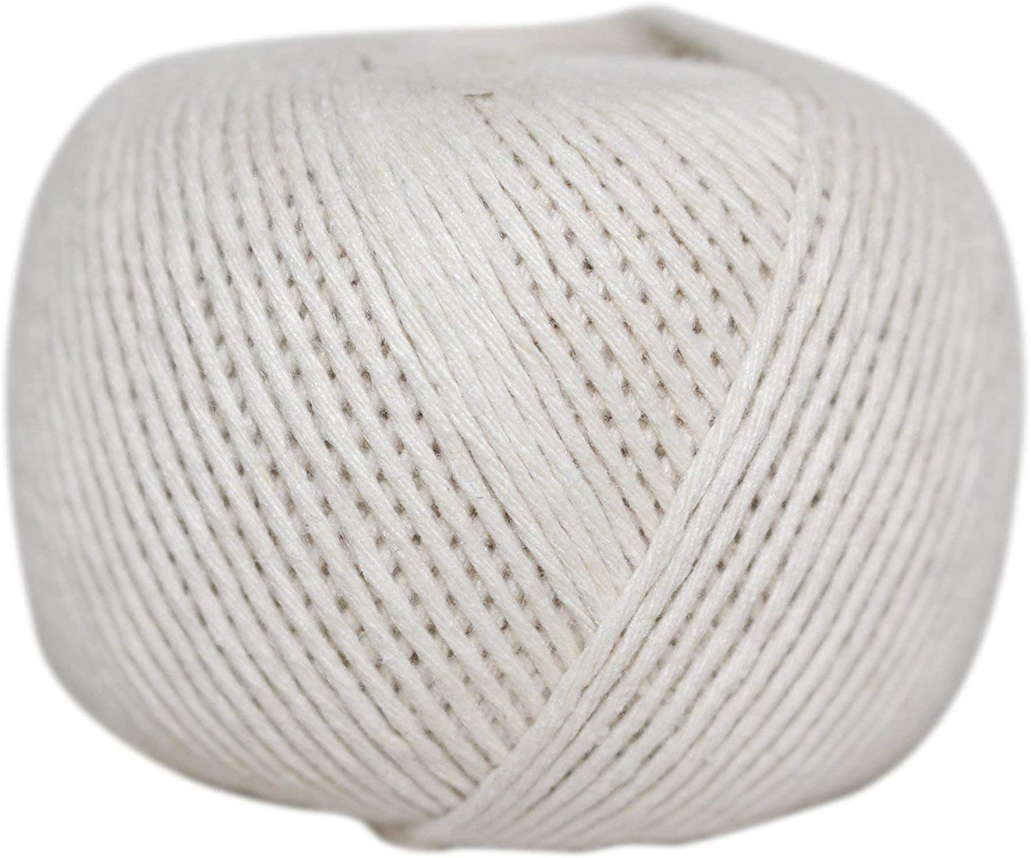 SGT KNOTS Cotton Pea Twine - String Rope for Crafts, Cooking, Kitchen, Macrame (420 feet - 1 Pack, White)