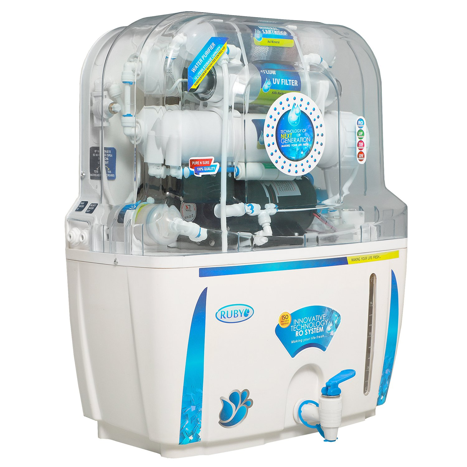 Ruby Ro+Uv+Tds Controller Water Purifier,White & Blue: Amazon.in ...