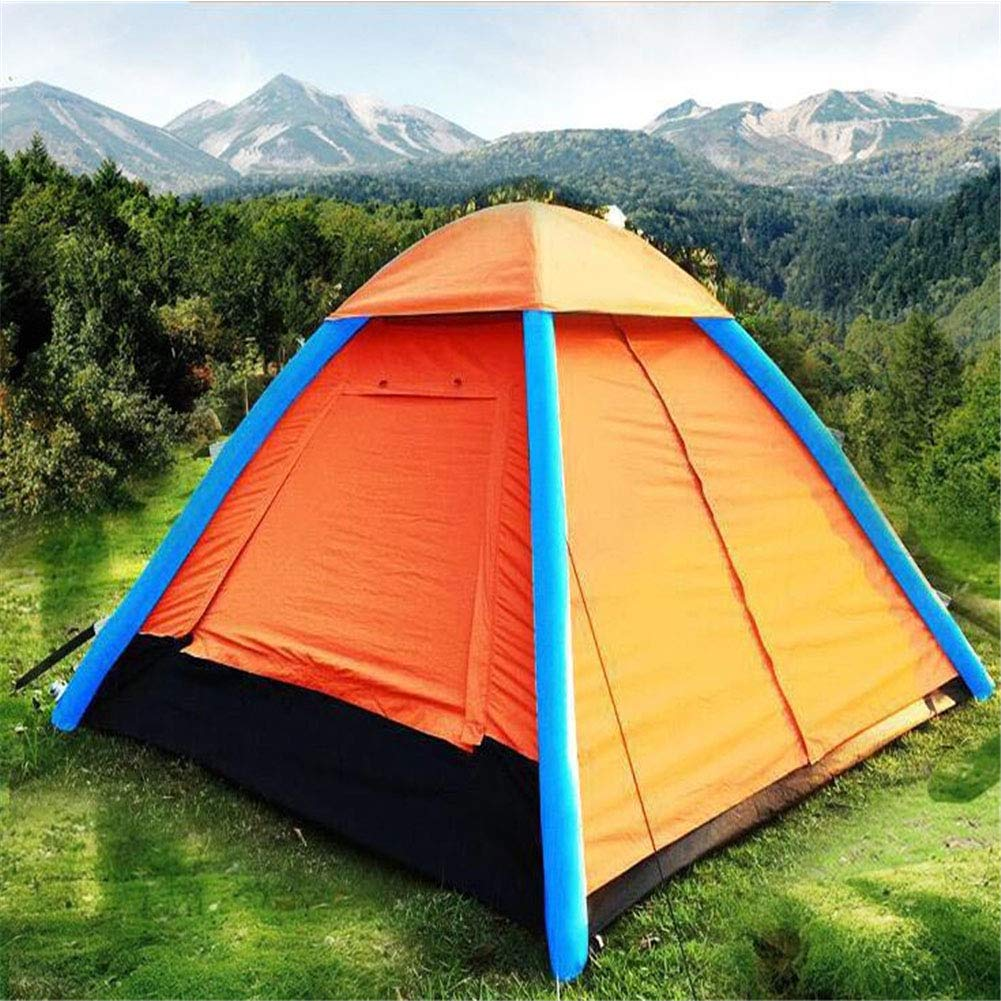 Yuhong Zelt, 3-4 Personen aufblasbare Zelte im Freien Automatische Windschutz Regenschutz Camping Wanderzelte (210  210  150cm)