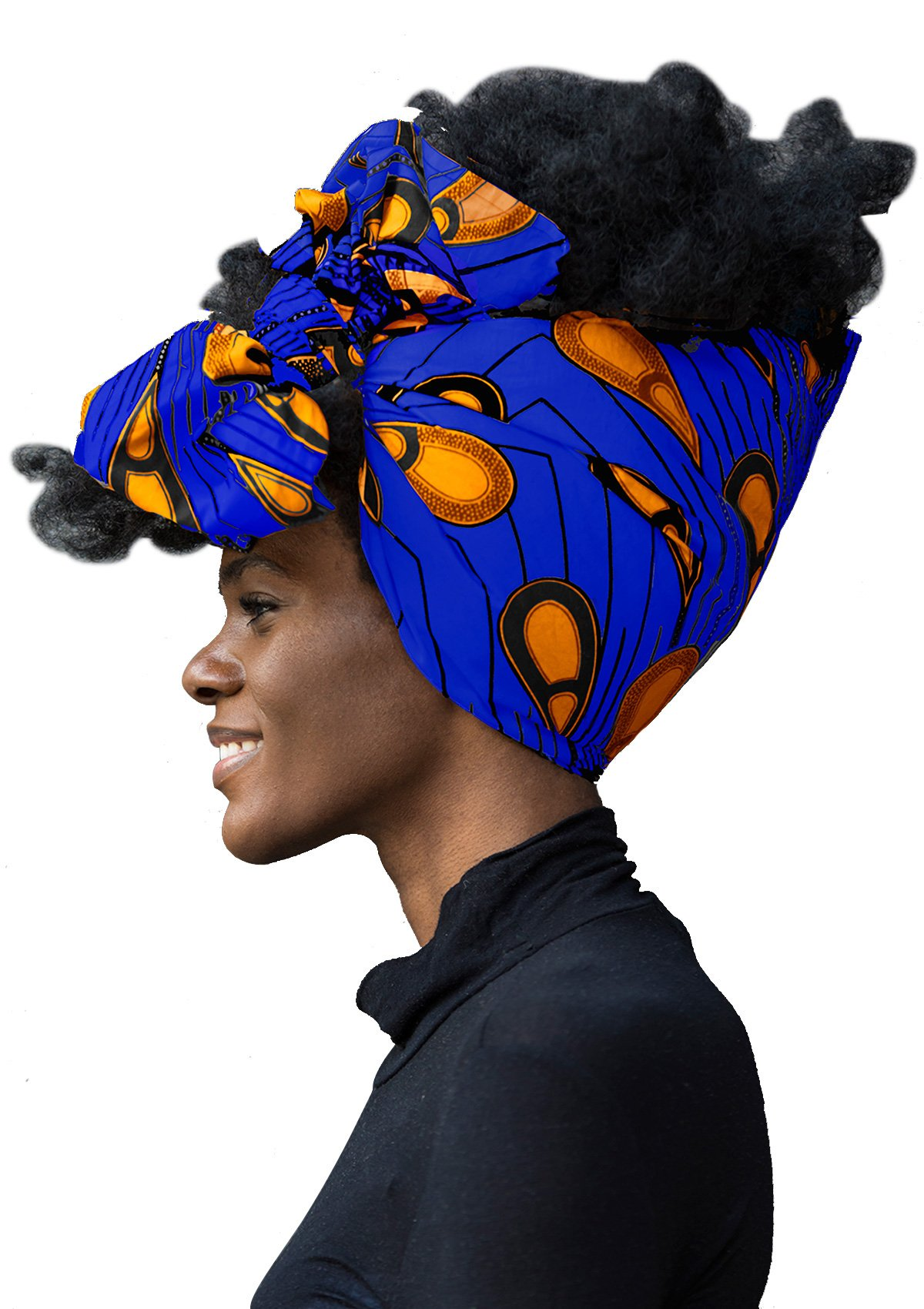 "African Head Wrap Extra Long 72""x22""Wax Print Head Scarf Tie for Women"