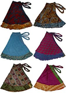 a51ab6ad775 Wevez Two Layer Magic Wrap Around Skirt   Dress - Silk Sari Wrap