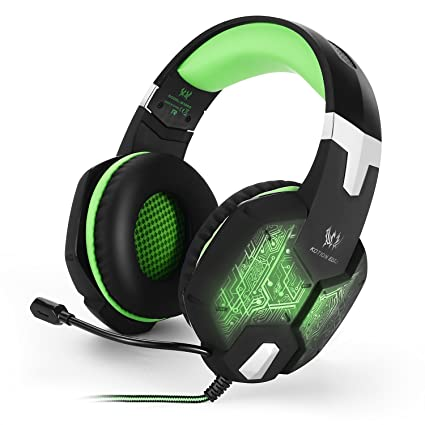 Gaming Headphones Green