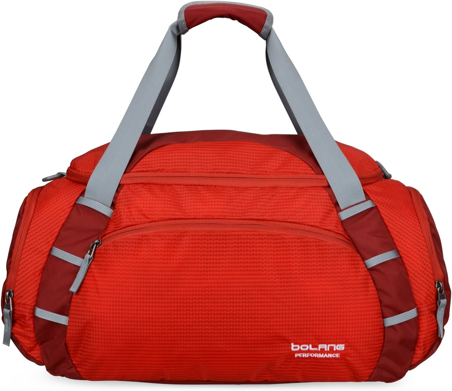 BOLANG Water Resistant Travel Duffel Tote Carry on Luggage Weekender Bag 8833 One Size, Red