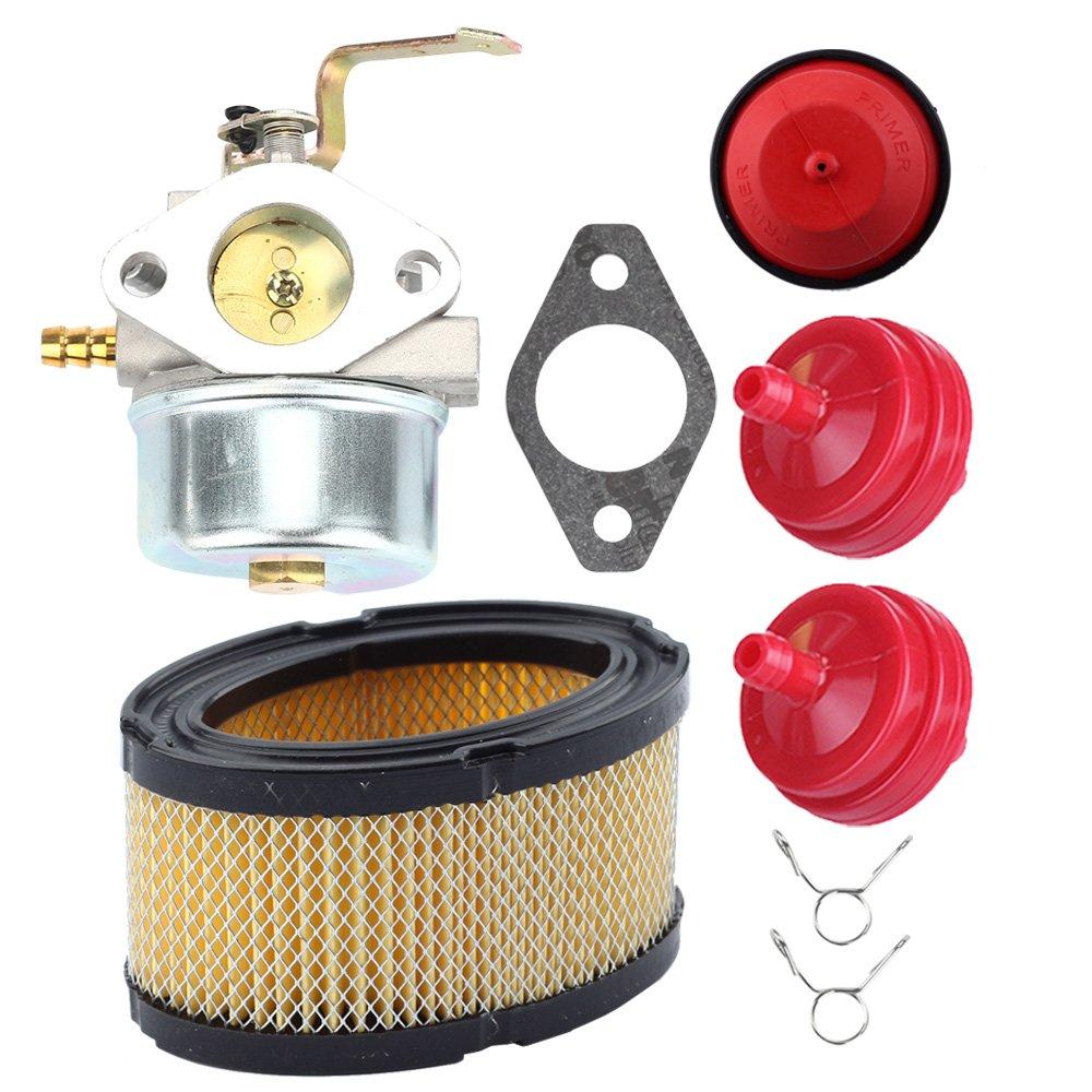 Butom 640260 640260a Carburetor With 33268 Air Filter Fuel For Tecumseh Hm100 Primer Bulb 640260b 632689 Lh318xa Lh358xa Lh358ea Hm80 Hm85 Hm90