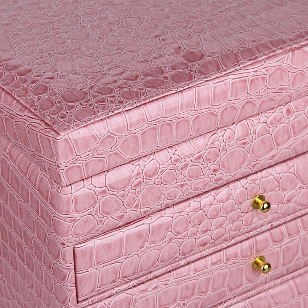 ROULING Extra Large Jewelry box Cabinet Armoire Bracelet Necklace Storage Case ZG209 (Pink)