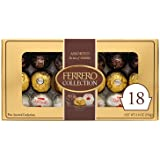 Ferrero Rocher Collection, Fine Hazelnut Milk Chocolates, 18 Count Gift Box, Assorted Coconut Candy and Chocolates, 6.8 oz, P