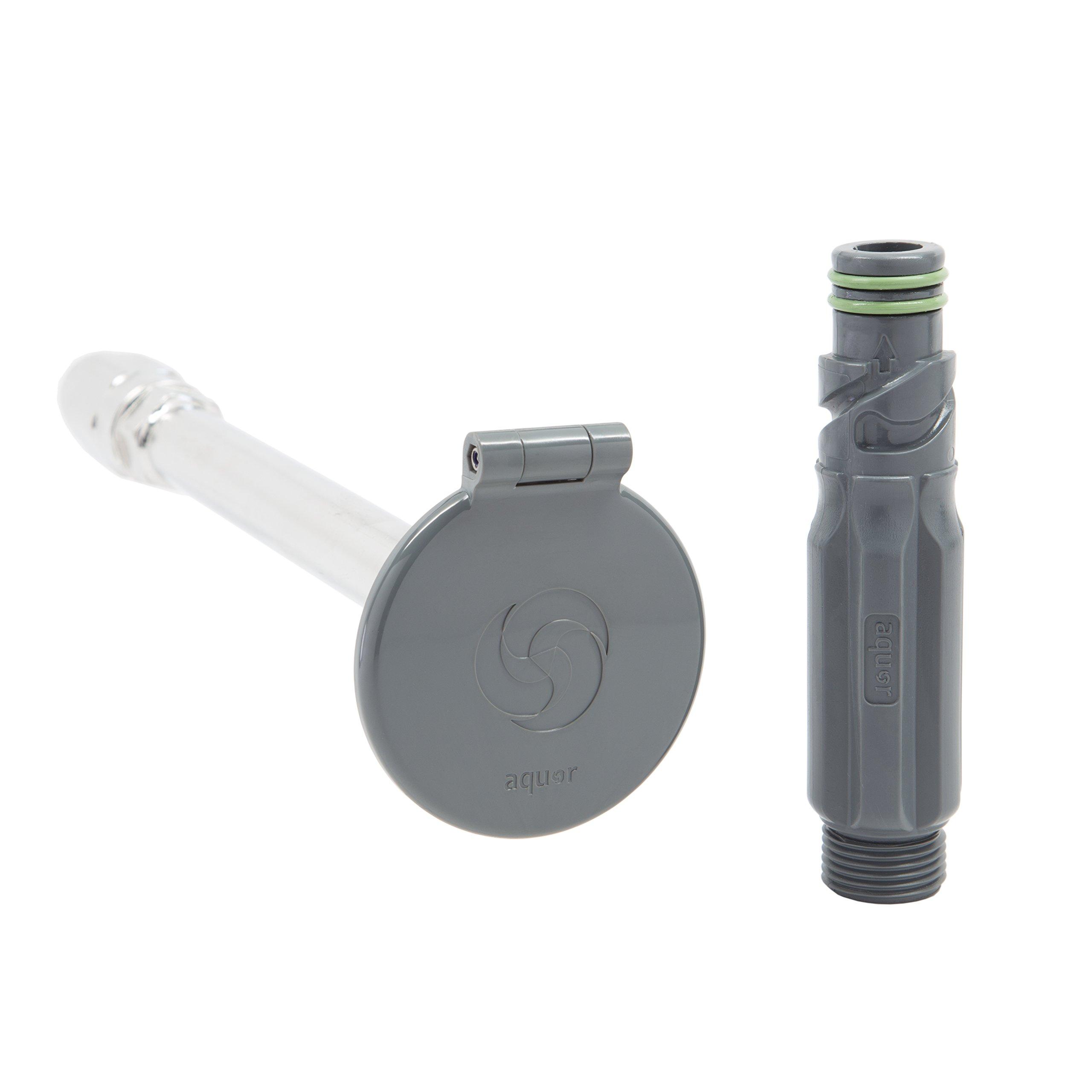 Aquor Frost-Free House Hydrant V1, 10-inch Slate Gray