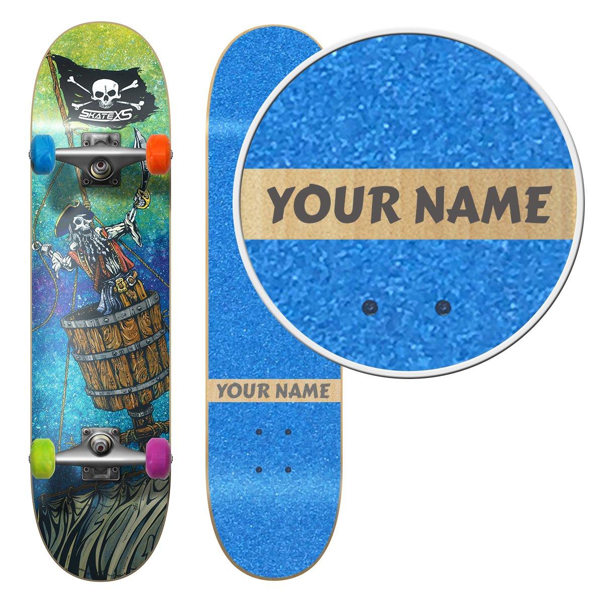 SkateXS Personalized Beginner Pirate Street Skateboard