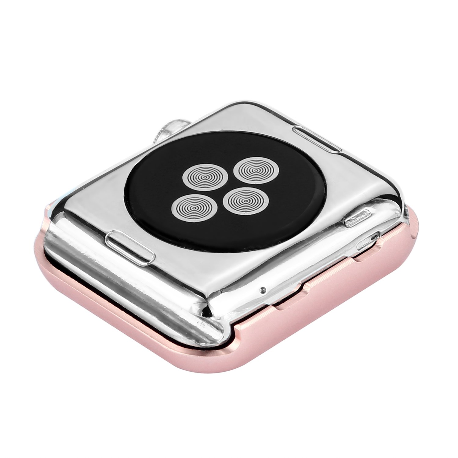 Apple Watch Bumper 42mm, iWatch Crystal Rhinestone Diamond Aluminum Case Shell Protective Frame Cover for 42mm Apple Watch Series 3/2/1 - Rose Gold by Clatune (Image #5)