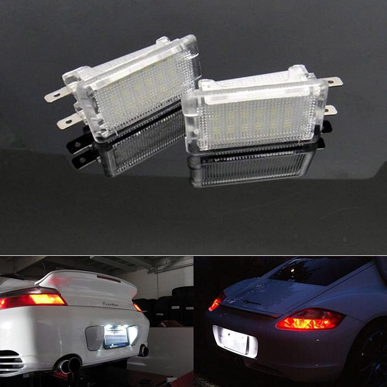 BSLighting 2x Porsche 964 911 986 987 Boxster 993 Cayman LED Luggage