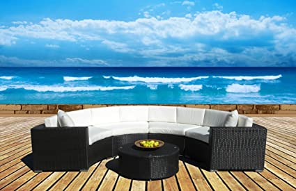 Ordinaire Outdoor Patio Furniture Sofa Sectional Wicker Round Resin Couch Set (T160)