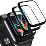 [3 Pack] Screen Protector for Apple Watch Series 3/2/1 38MM Bubble-Free, 3D Full Coverage Anti-Scratch Shatter-Proof HD Clear