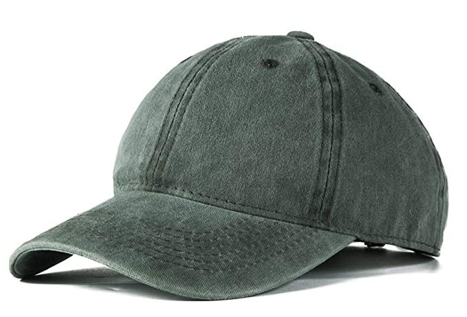 023661b0 ROWILUX Vintage Washed Twill Cotton Baseball Caps Low Profile Dad Hat, Army  Green