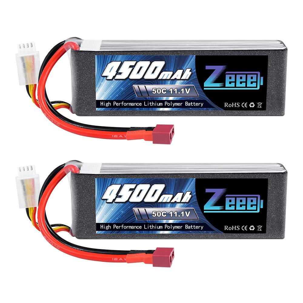 2 Baterias Lipo Zeee 11.1V 50C 4500mAh 3S con Deans Plug par