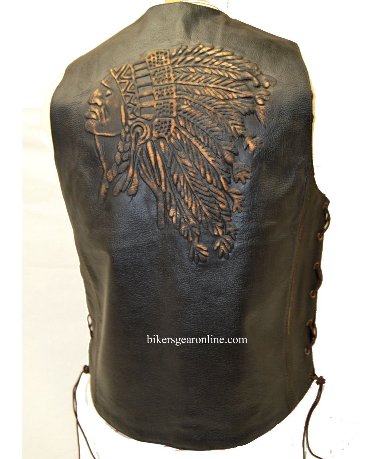 3XL DEFY Mens Genuine Leather Motorcycle Biker Concealed Carry Vintage Vest American Sizes