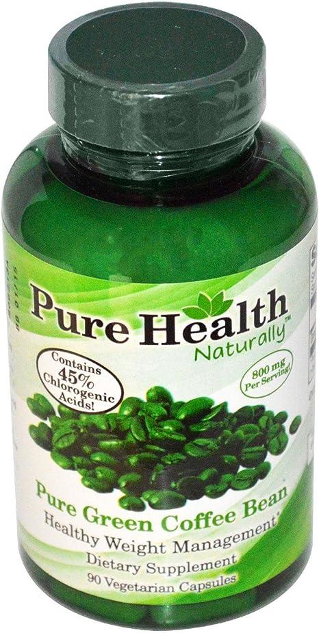 Amazon Com Pure Health Green Coffee Bean Extract 800 Mg