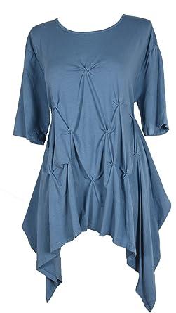 STRAND-TUNIKA blau-türkis STRAND-KLEID ~ SHIRT 44//46 oder 48//50 NEU