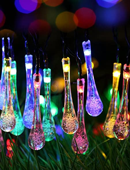 Amazoncom Lareinae Solar String Lights Outdoor Waterproof