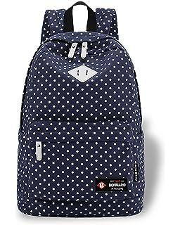 813fc0205ff Bagzar Set of 3 Pcs Sports Bag Canvas School Bag Backpack College ...