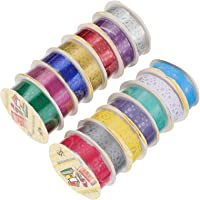 EXCEART 14 Rolls Glitter Washi Tape Set Washi Masking Decorative Tapes Shining Lace Tape Set for DIY Decor Planners…