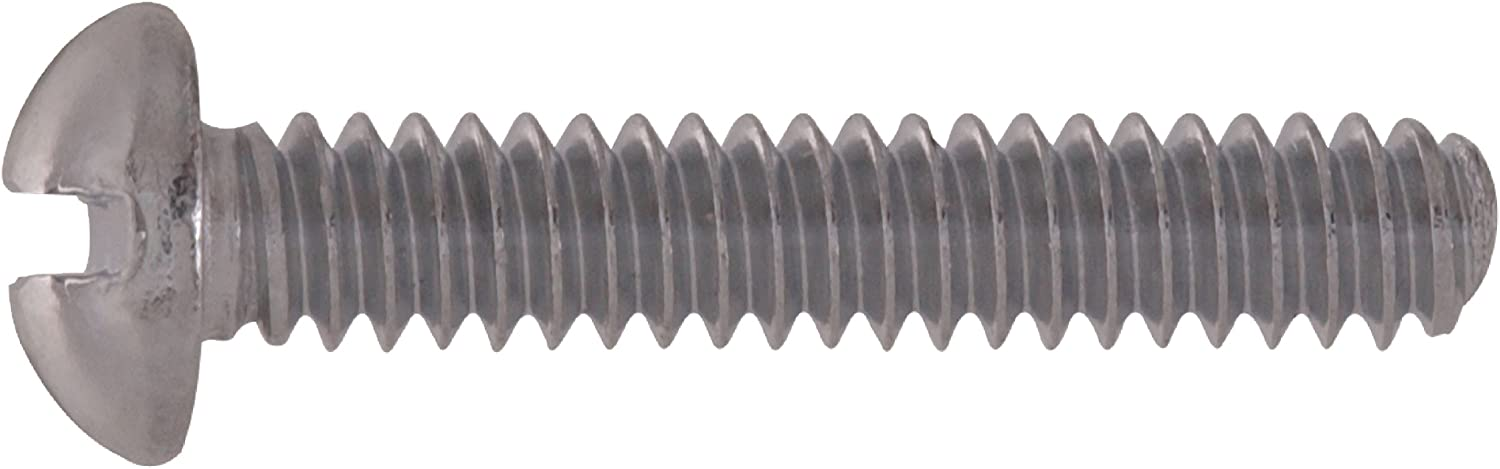 The Hillman Group The Hillman Group 1063 Chrome Plated Round Head Slotted Machine Screw 8//32 x 3//4 in 36-Pack