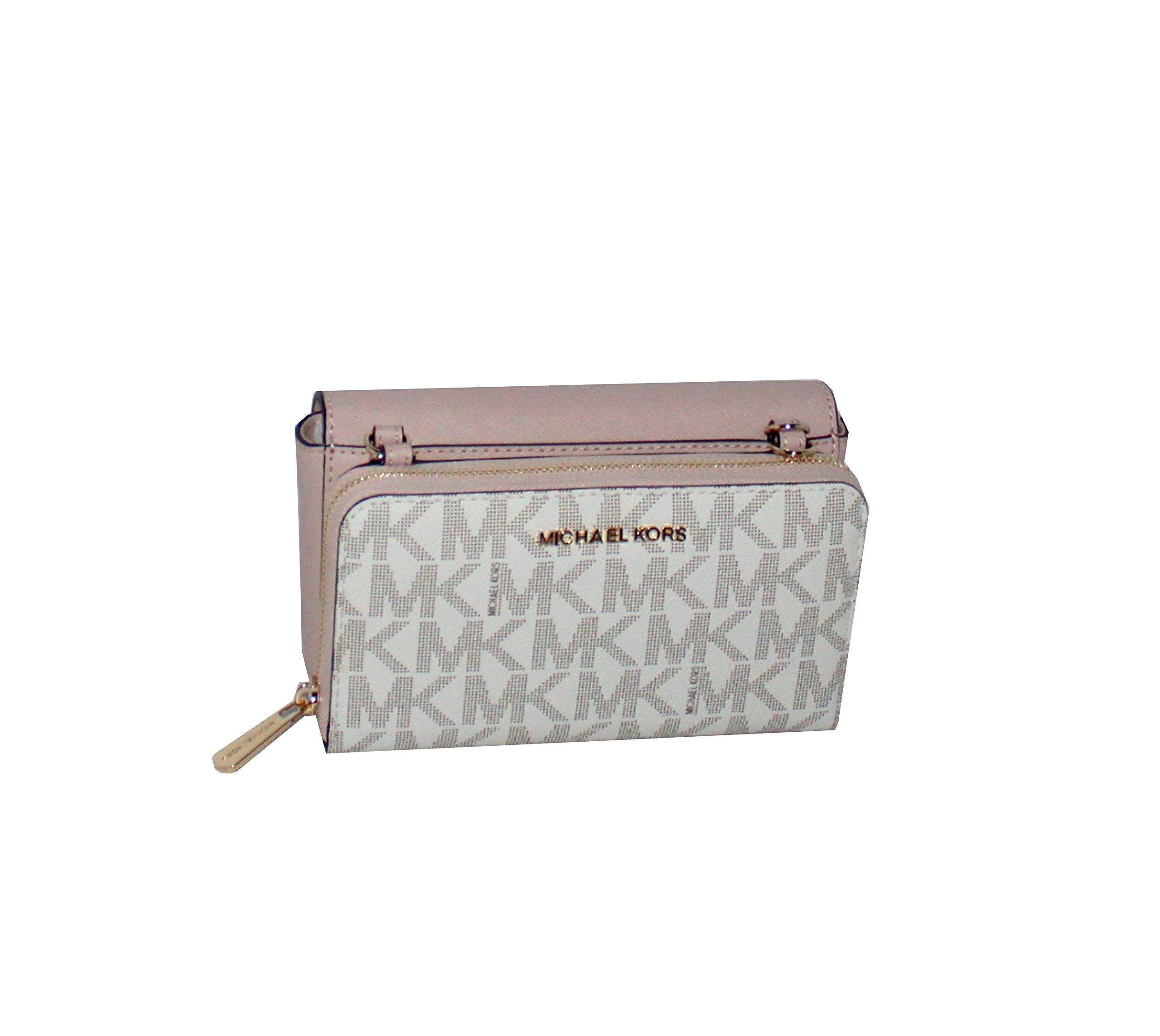 MICHAEL Michael Kors Tina Women's Wallet Clutch Xbody Shoulder Leather Double Bag MK PRINTED