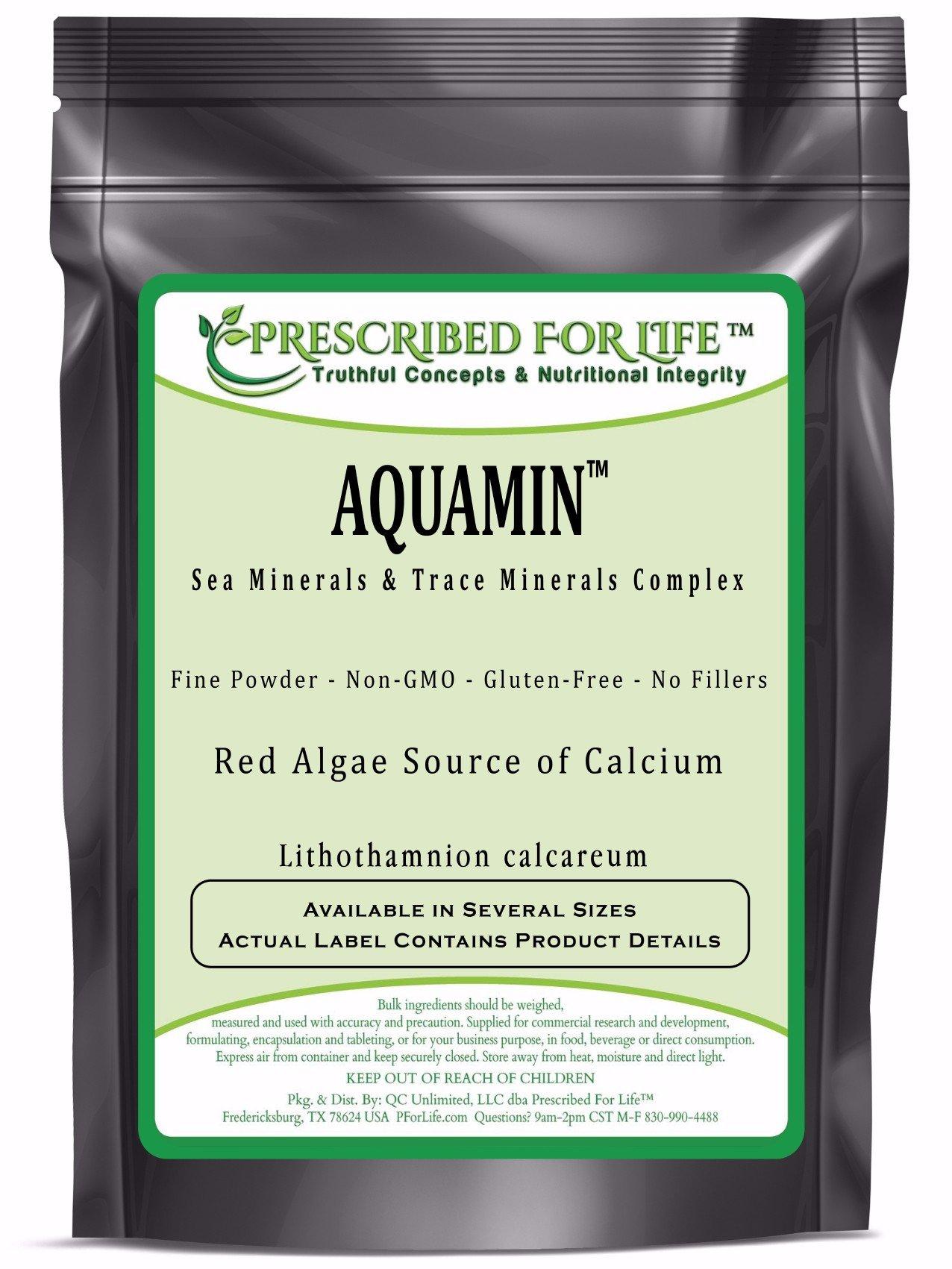 Trace Minerals - AquaMin (TM) Natural Marine Calcium & Trace Mineral Complex ING: Organic Powder, 25 lb