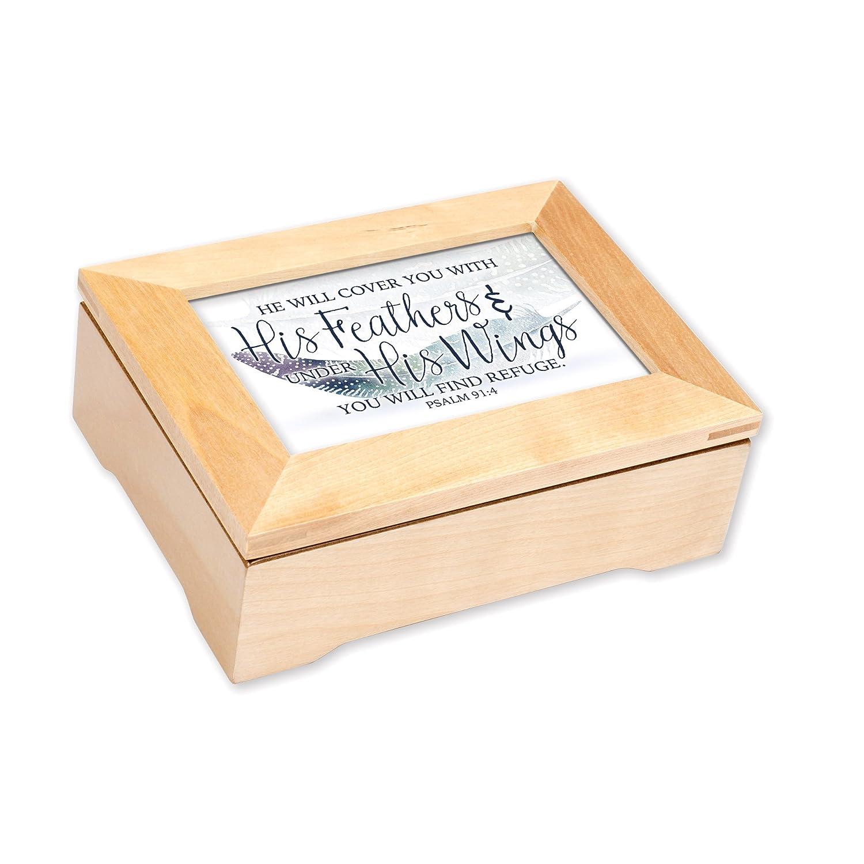 最高の品質 彼の羽にカバーYou Find Refuge 8 8 B072WCKCWW x 6インチ木製記念品音楽ボックスPlays Amazing Grace Grace B072WCKCWW, 北のFRP屋 プラマーレ:bce71311 --- arcego.dominiotemporario.com