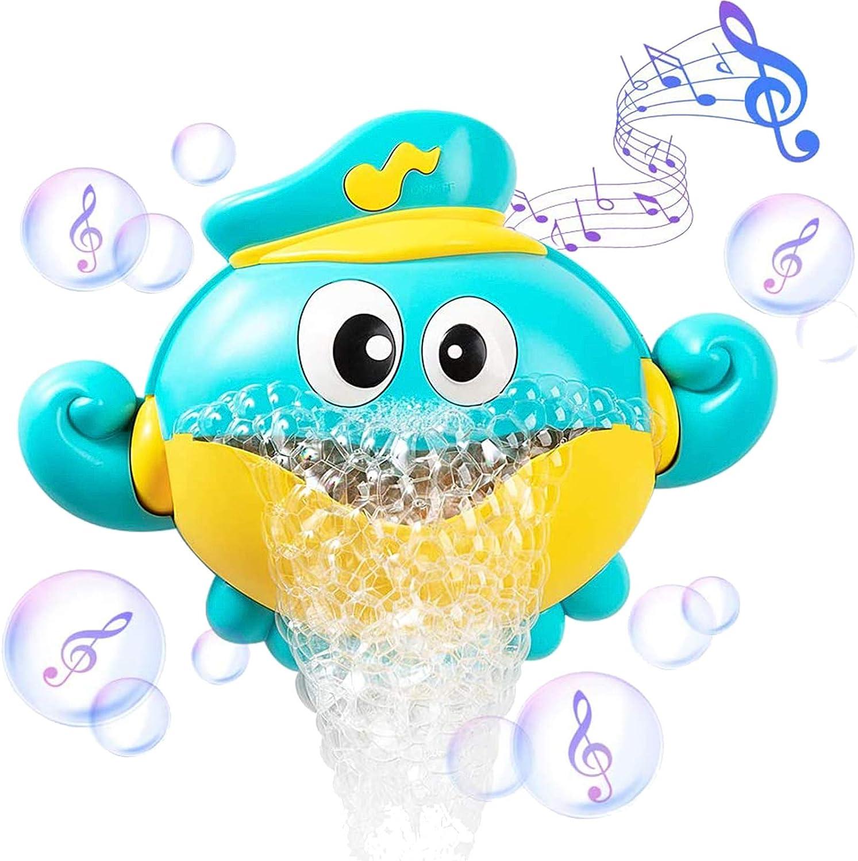 ZWOOS Juguete de Baño para Bebés - Juguete de Burbujas de Pulpo - Juguete de bañera con 12 Música para Niños Pequeños, Bebés
