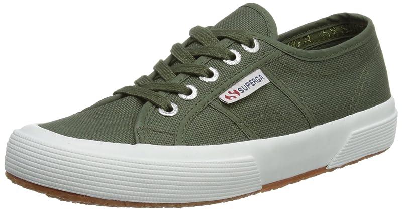 Superga 2750 Cotu Classic Sneakers Low-Top Unisex Damen Herren Grün (Sherwood Grün)