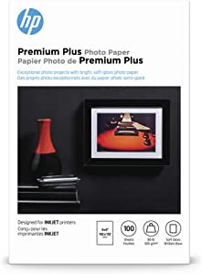 HP Premium Plus Photo Paper, Soft Gloss, 4x6, 100 Sheets (CR666A)