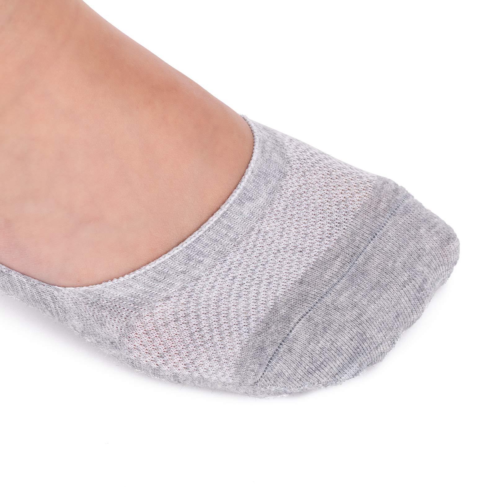 Women Anti-Slip Colorful Striped Low-Cut Footsies Trainer Shoe Liner Socks  CW22