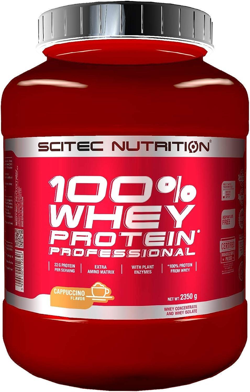 Scitec Nutrition 100% Whey Protein Professional con aminoácidos clave y enzimas digestivas adicionales, 2.35 kg, Cappuccino