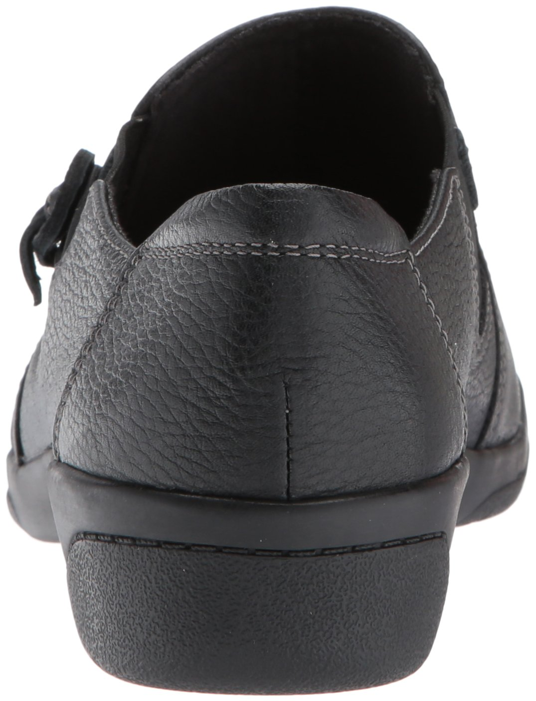 Clarks Women's Cheyn Madi Slip-On Loafer, Black Tumbled Leather, 9.5 W US by CLARKS (Image #2)