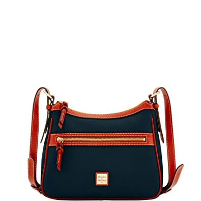 320ae2e6d Dooney & Bourke Pebble Grain Piper Crossbody (Black/Brown): Handbags ...