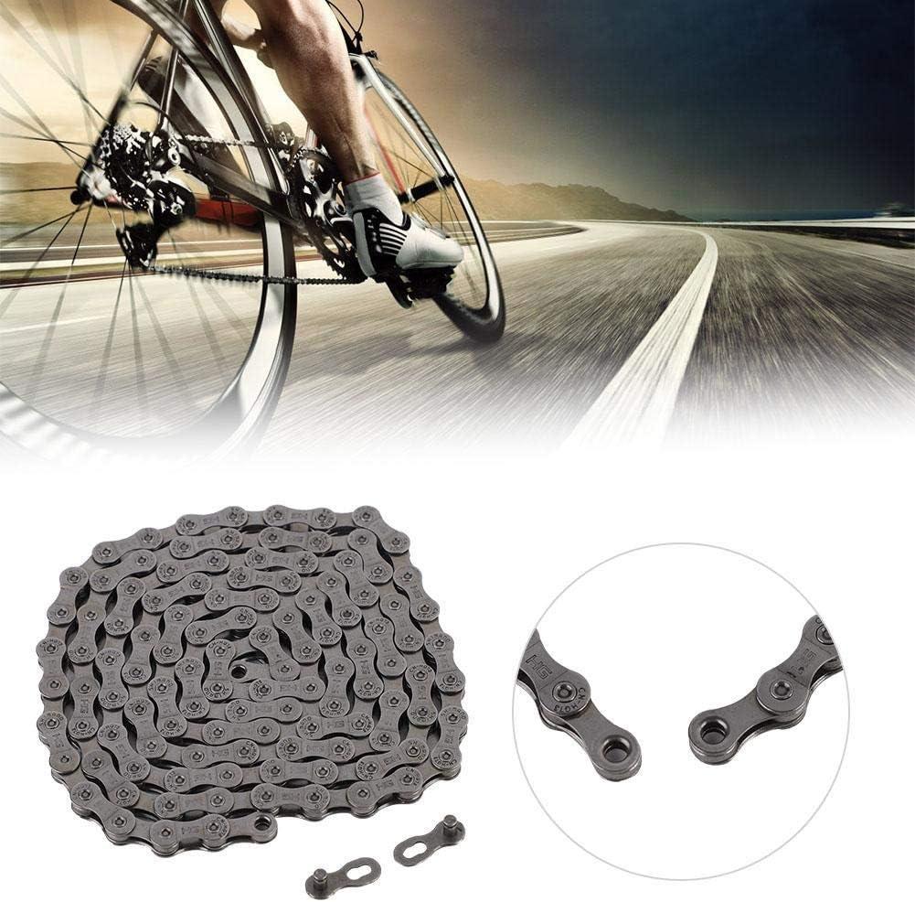 Cadena de la bicicleta, la cadena de la bici del camino de la montaña MAGT universal 9/27 velocidad de la bicicleta de la cadena mágica de la hebilla del camino de ciclo