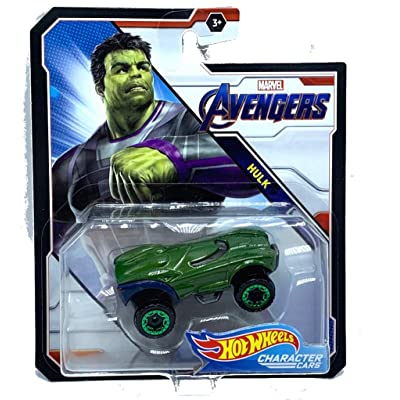 Hot Wheels Avengers Hulk Marvel Character Car: Toys & Games