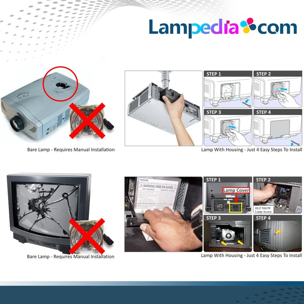 CP-AW2519N CP-A221NM Lampedia Projector Lamp for HITACHI CP-A221N CP-AW251N CP-A301N CP-AW2519NM CP-A301NM CP-AW251NM