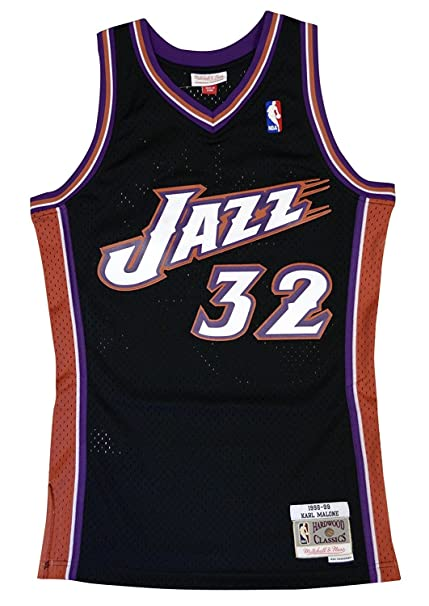c3f25621daa ... discount mitchell ness utah jazz karl malone swingman jersey nba  throwback black small 6b244 06095