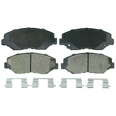 Wagner QuickStop ZD914 Ceramic Disc Pad Set Includes Pad Installation Hardware, Front: Automotive