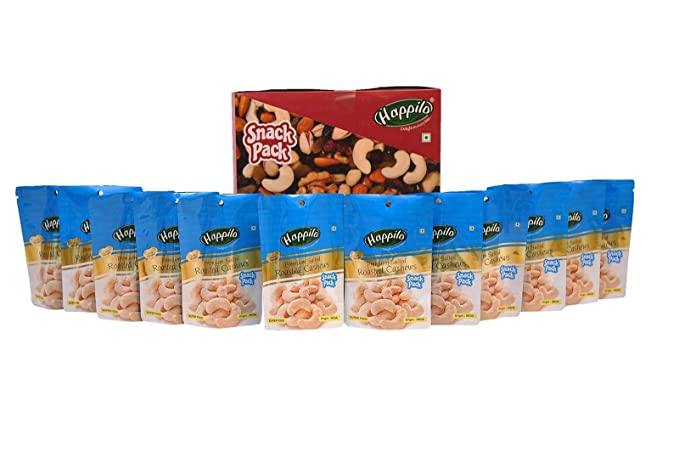 Happilo�Premium Roasted and Salted Cashews, 35g (Pack of 12)