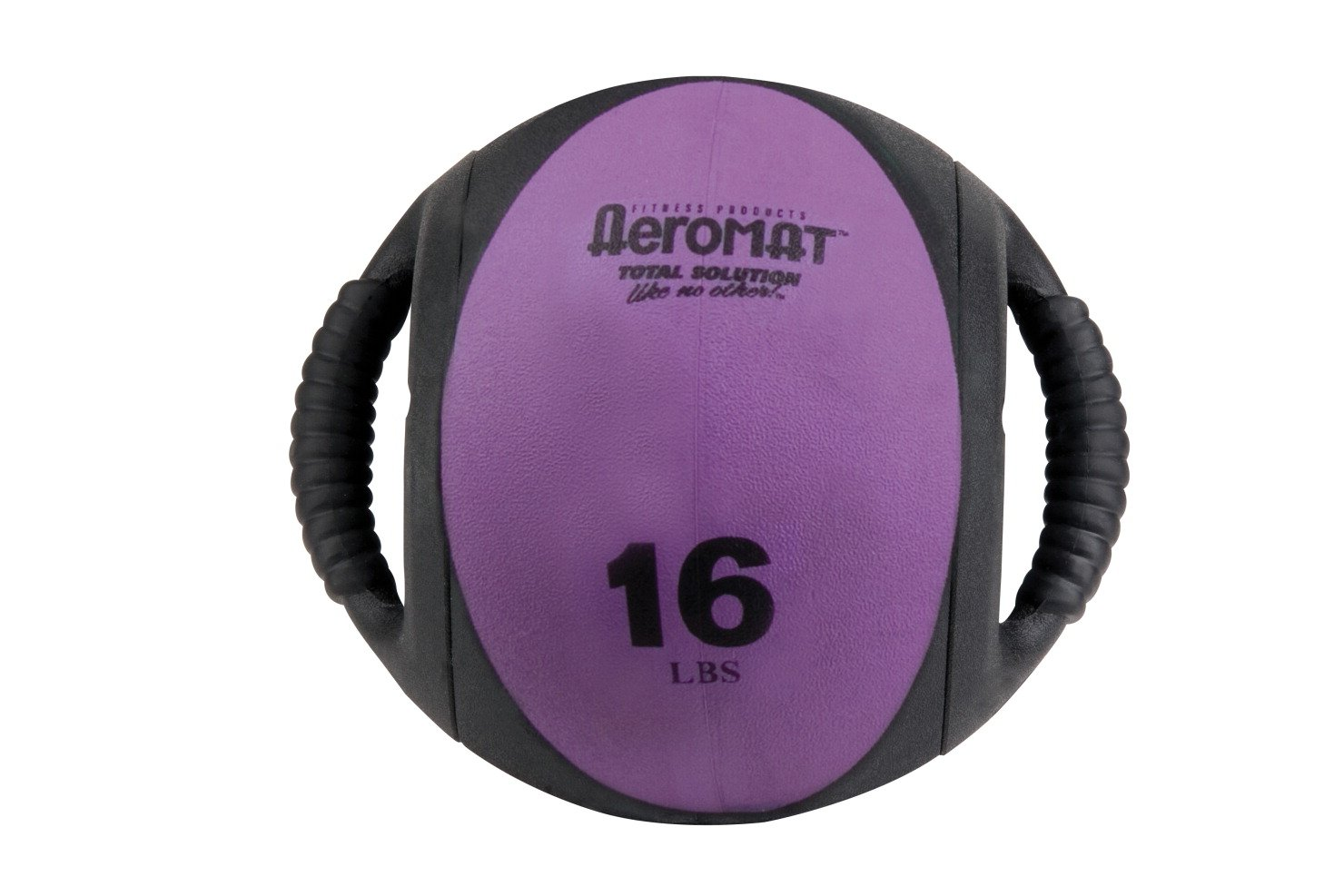 Aeromat Dual Grip Power Medicine Ball, 9cm/16-Pound, Black/Purple