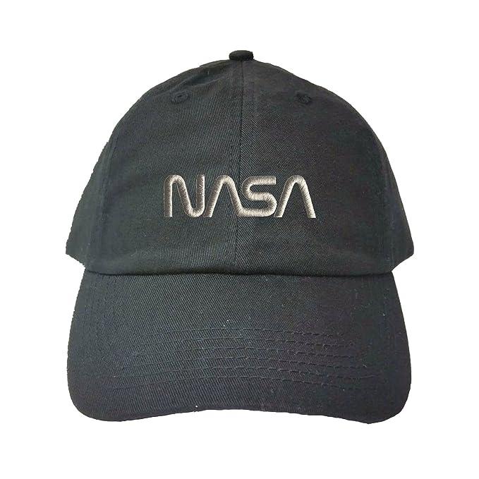 d6fcfa64 Go All Out Adjustable Black Adult NASA Worm Logo Embroidered Dad Hat